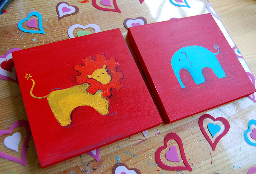 Lion & elephant