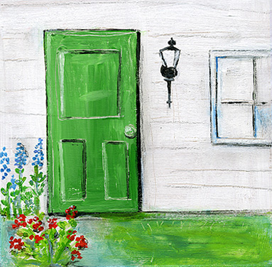 Green Door Jpg Just In Case You Were Wondering How Much I Love Daily Painting Technically M On A Little Vacation And Still Want To Paint Everyday