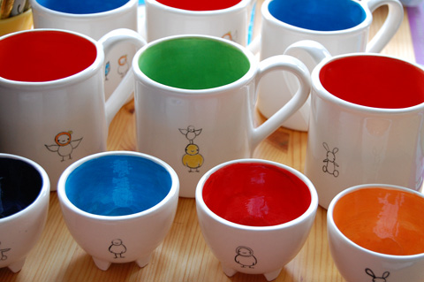 Cups together