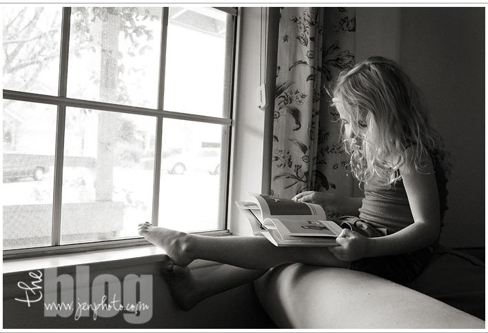 Ali reading olive