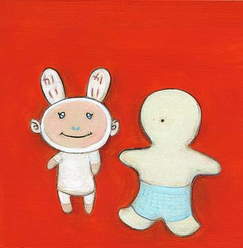Bunny Boy & White Boy
