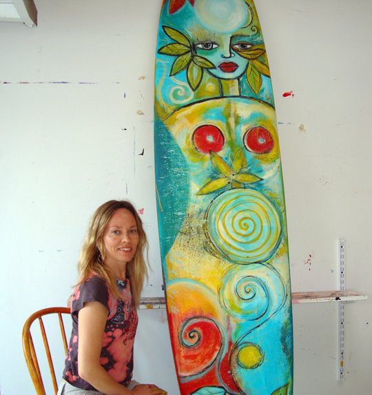 Outi's surf board