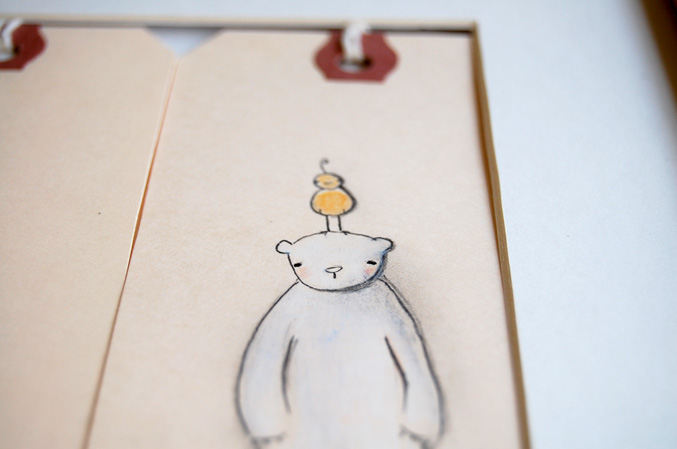 Polar bear & tiny bird