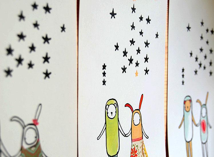 Stars gocco painted