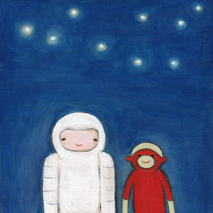 The spaceman & the sock monkey