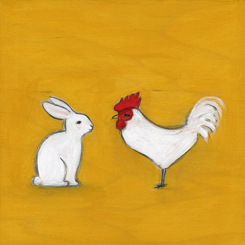 Rabbit and the rooster