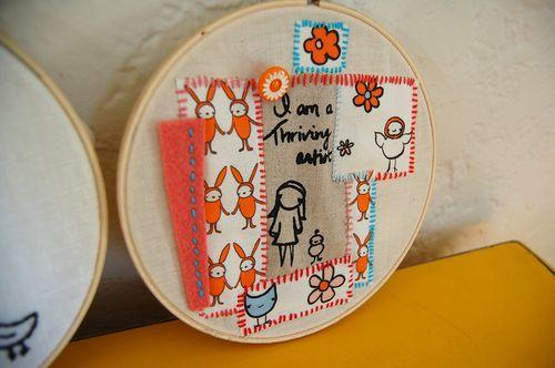 Thriving artist hoop1