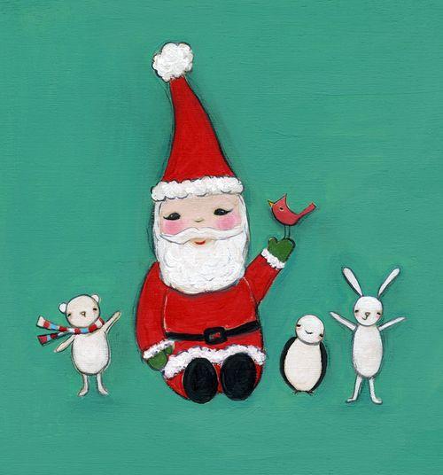 Santa is here! card