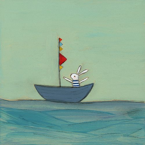 Bunny in a boat sm
