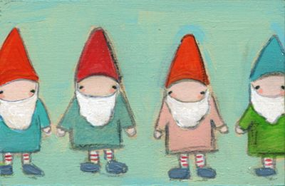 All in a row gnomes