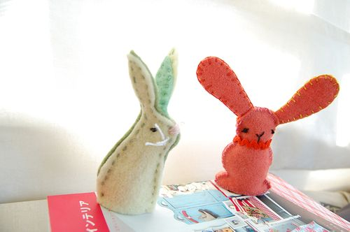 Embroidered bunnies 1