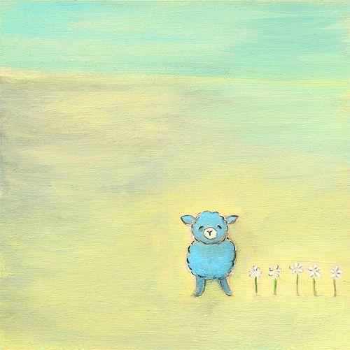 The blue lamb