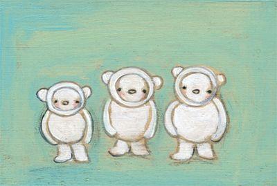 All in a row bears