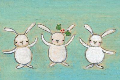 All in a row bunnies