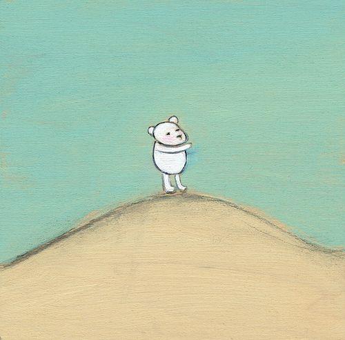 A bear on a dune