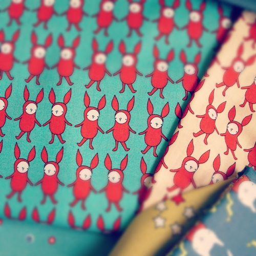 Bunnies in bodysuits