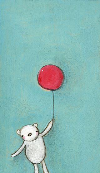 Little red balloon sweetie bear