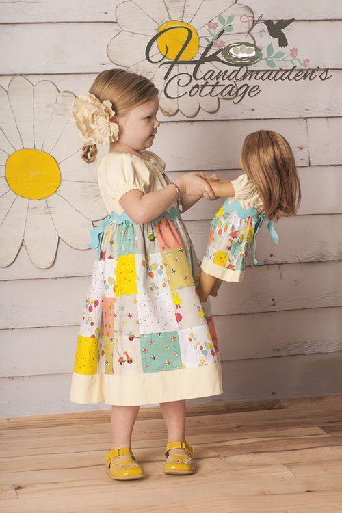 Handmaiden's Cottage patchwork dress
