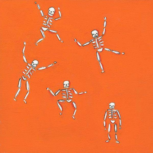 Tiny skeletons orange