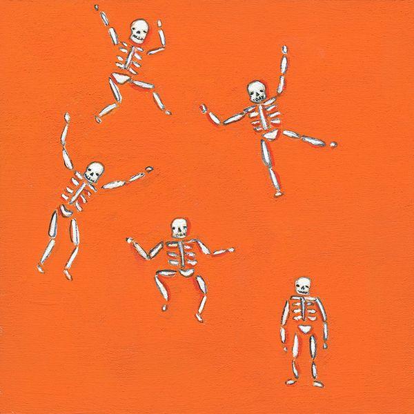 Tiny skeletons orange