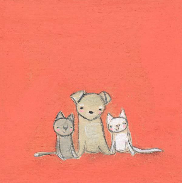 Pepita and the kittens