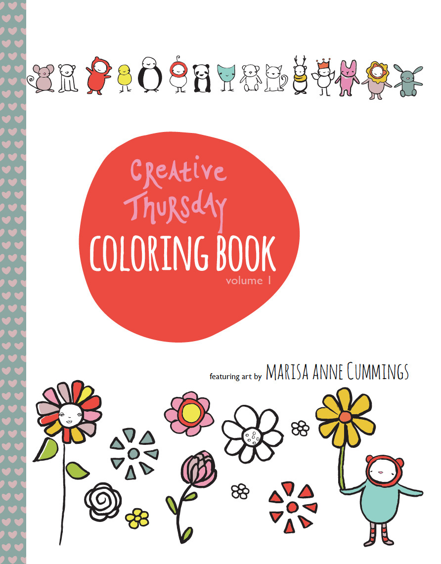 Creative Thursday Coloring Book Cover